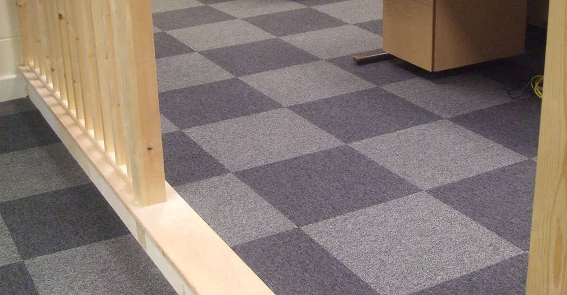 carpet tiles in commercial office space