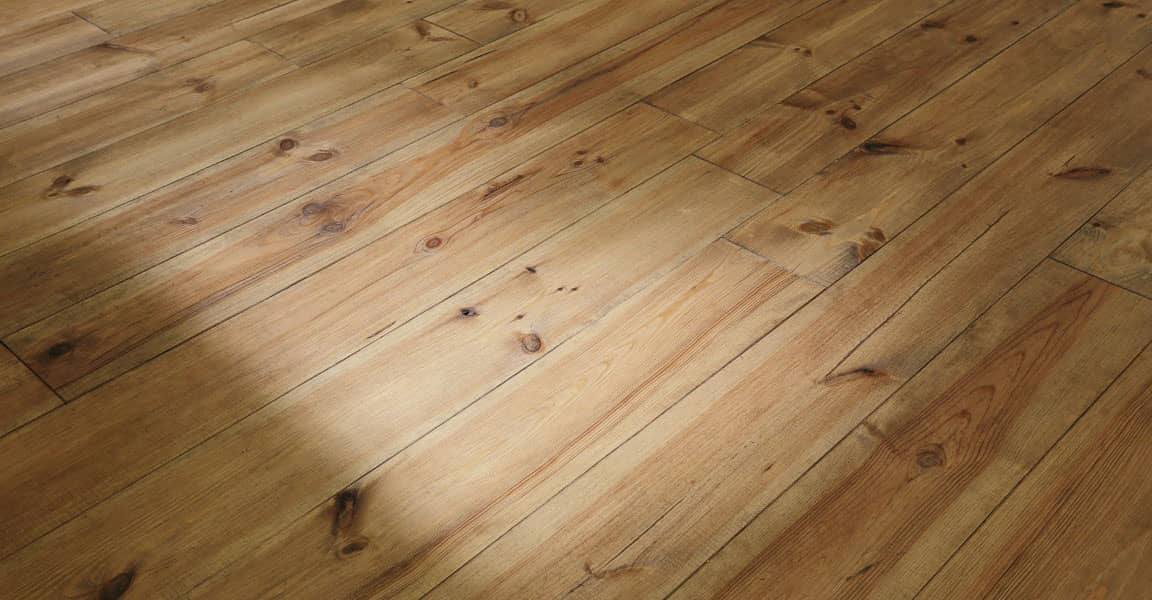 dimly lit hardwood flooring