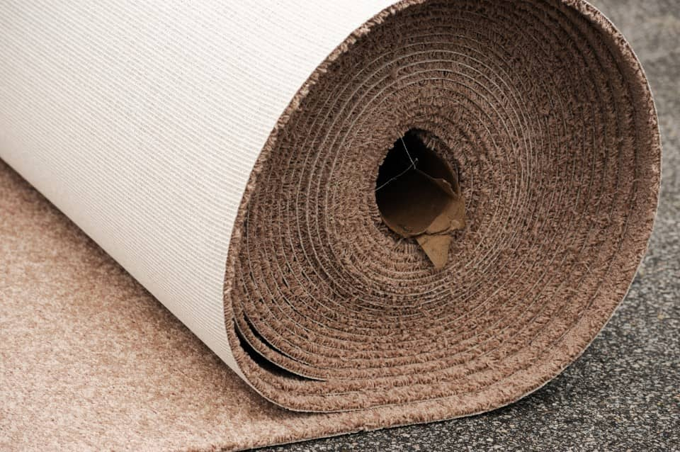 roll of brown carpet