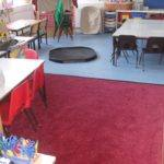 primary school part carpet part non slip safety flooring for wet area