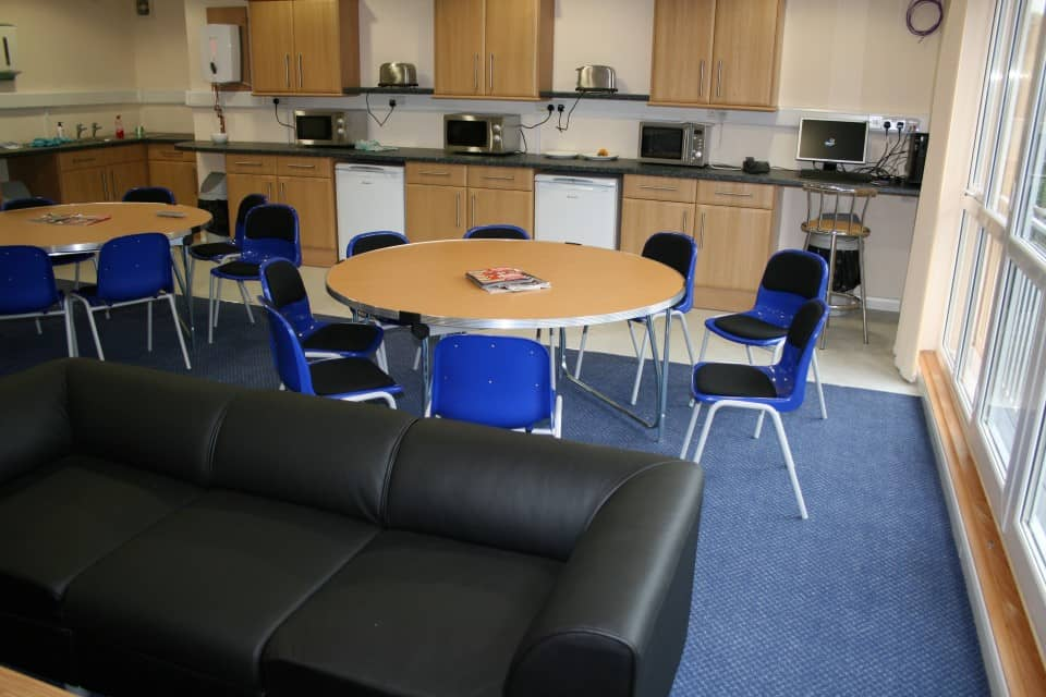 commercial carpet and safety flooring in canteen area
