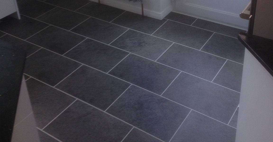 vinyl flooring in kitchen