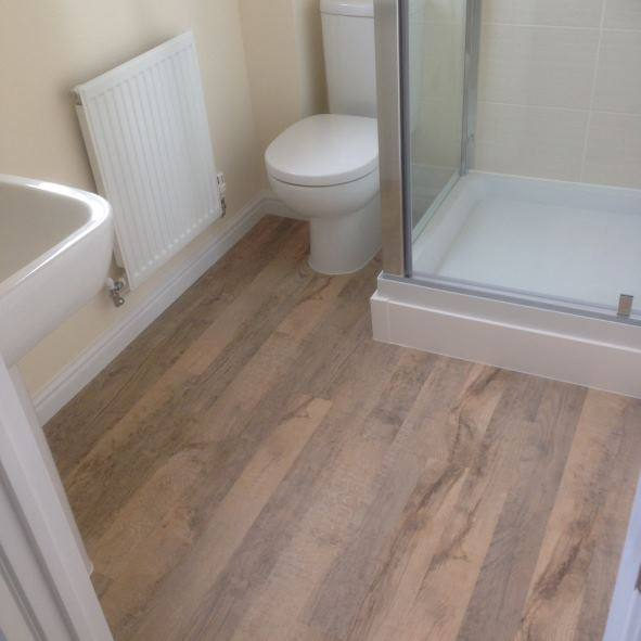 safety flooring in residential bathroom