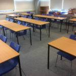 new flooring in classroom